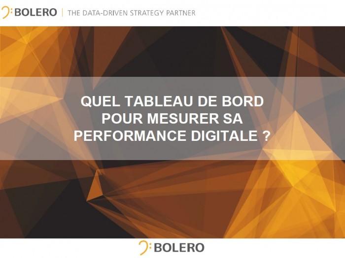 TABLEAU DE BORD POUR PILOTER PERFORMANCE DIGITALE