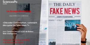 Conférence Science-Po Fake News